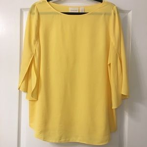NEW Chico's soft butterfly sleeves blouse size 1